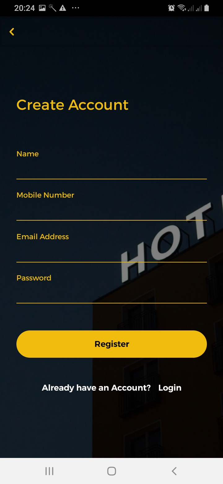 Kleisure Sign Up Screen