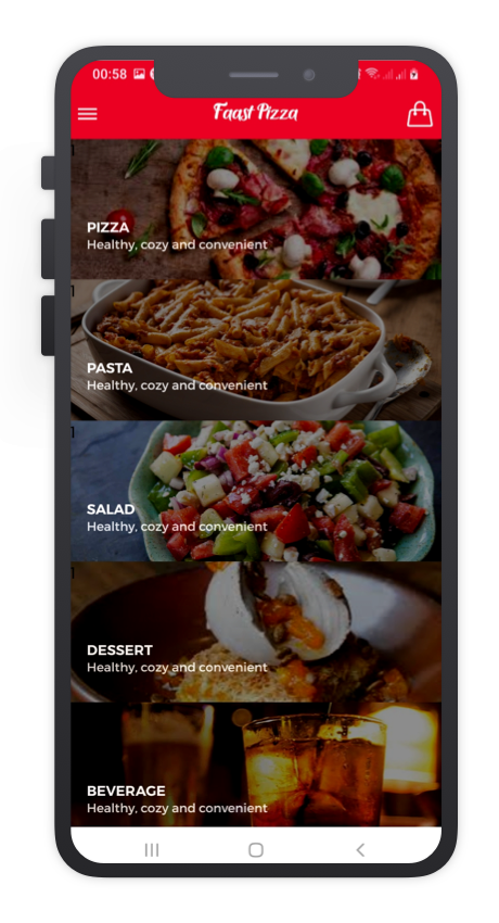 Faast Pizza React Native App Template Features