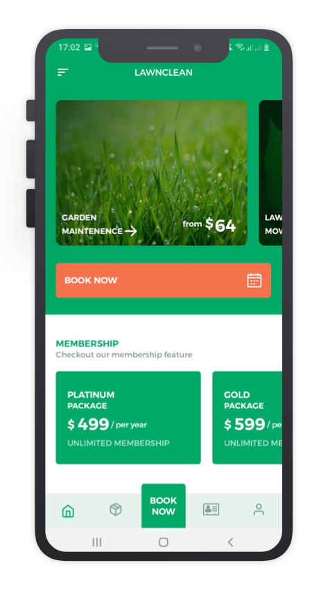 Lawn Clean React Native App Template Features