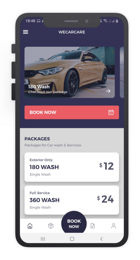 We Car Care React Native App Template Features