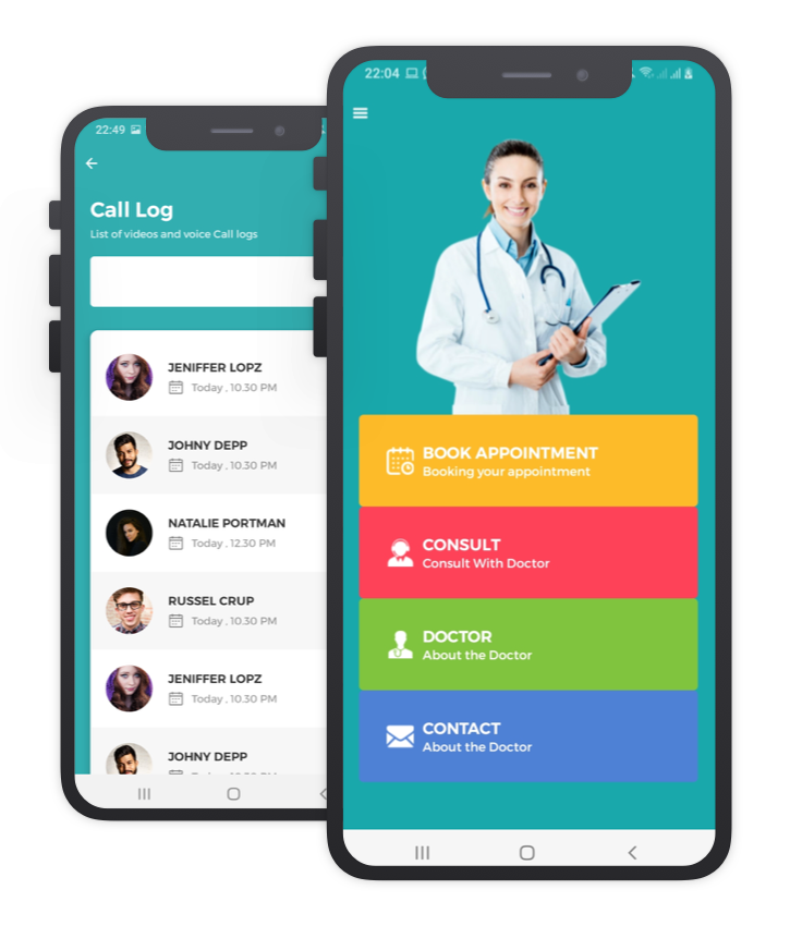 Mr.Doctor Custom Design React Native App Template