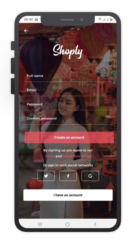 Shoply React Native App Template Features