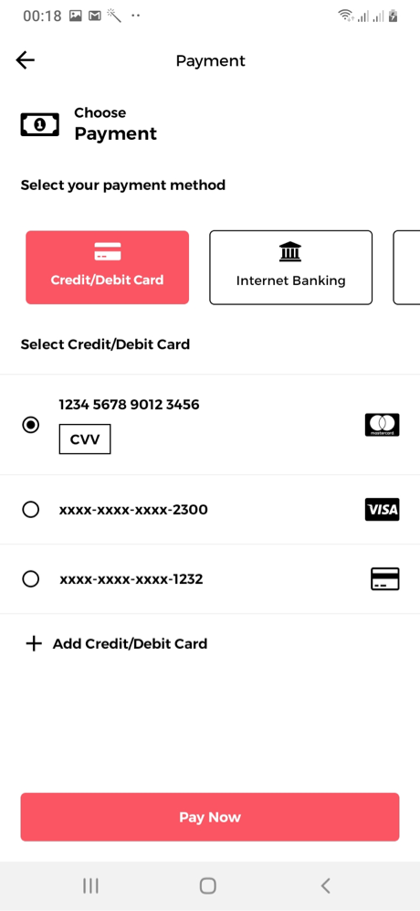 Shoply Payment Screen