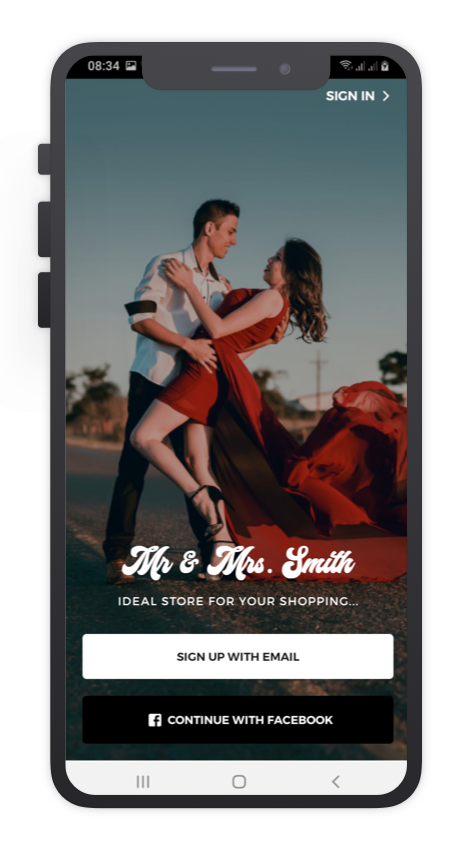 Mr&Mrs Smith React Native App Template Features