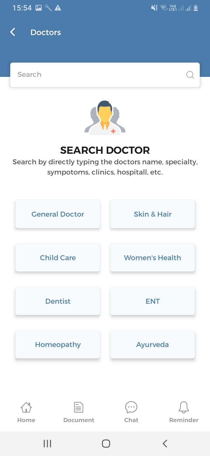 Medicoy Search Doctor Screen