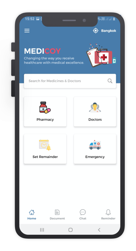 Medicoy React Native App Template Features