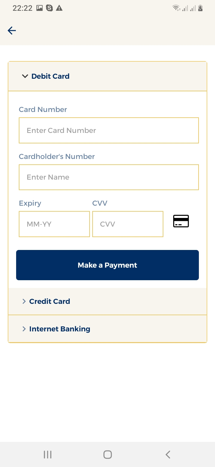 Maid Finder Payment Screen