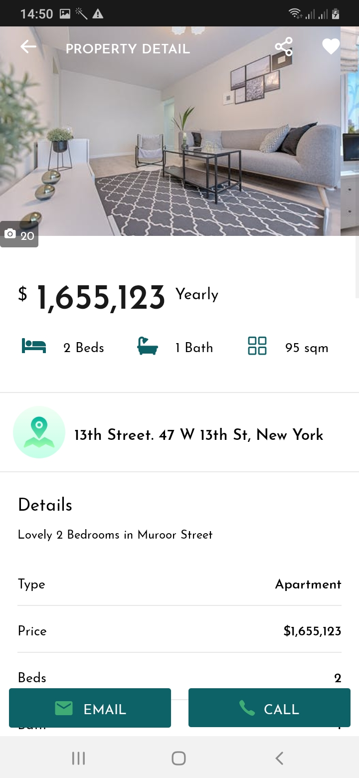 Realify Property Detail Screen
