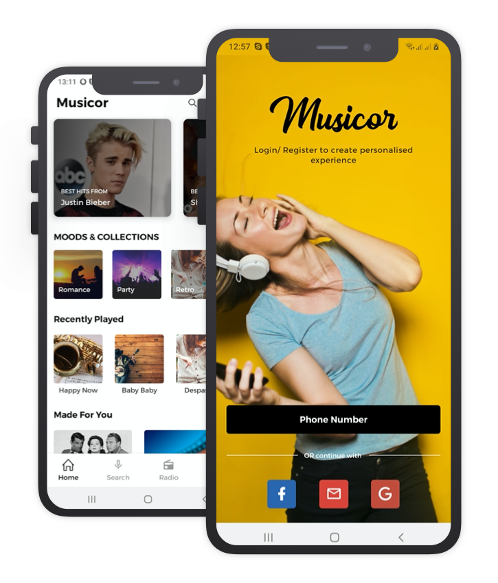 Music Or Custom Design React Native App Template