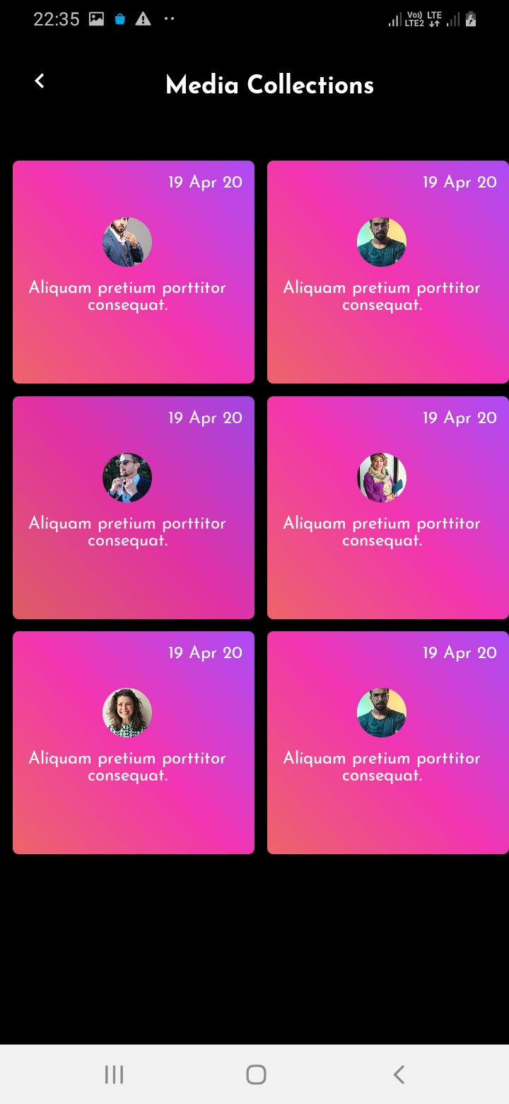 SnapTok Member Media Screen