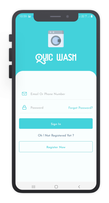 Quick Wash React Native App Template Features
