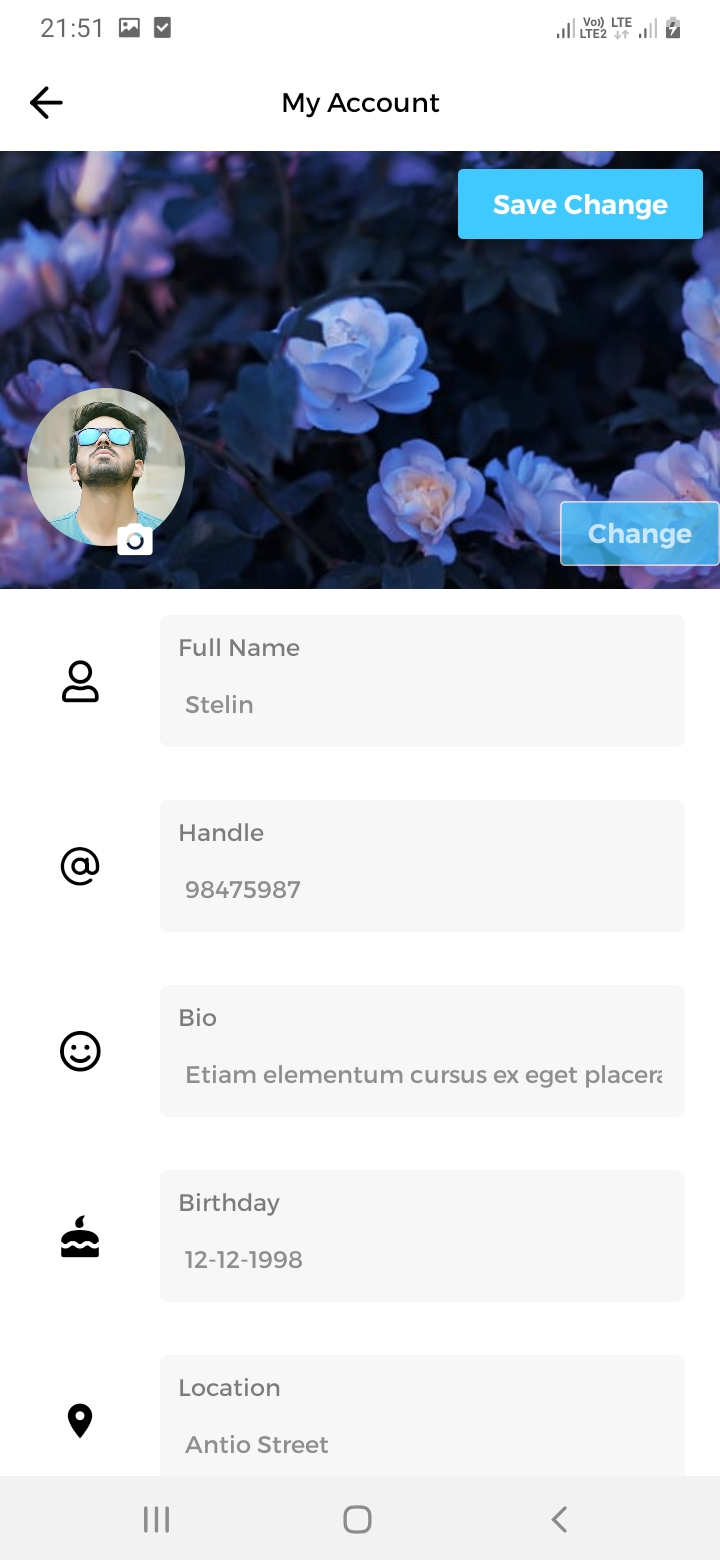 Divvy Chat My Account Screen