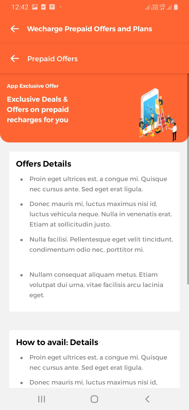 WeCharge More Offer Screen