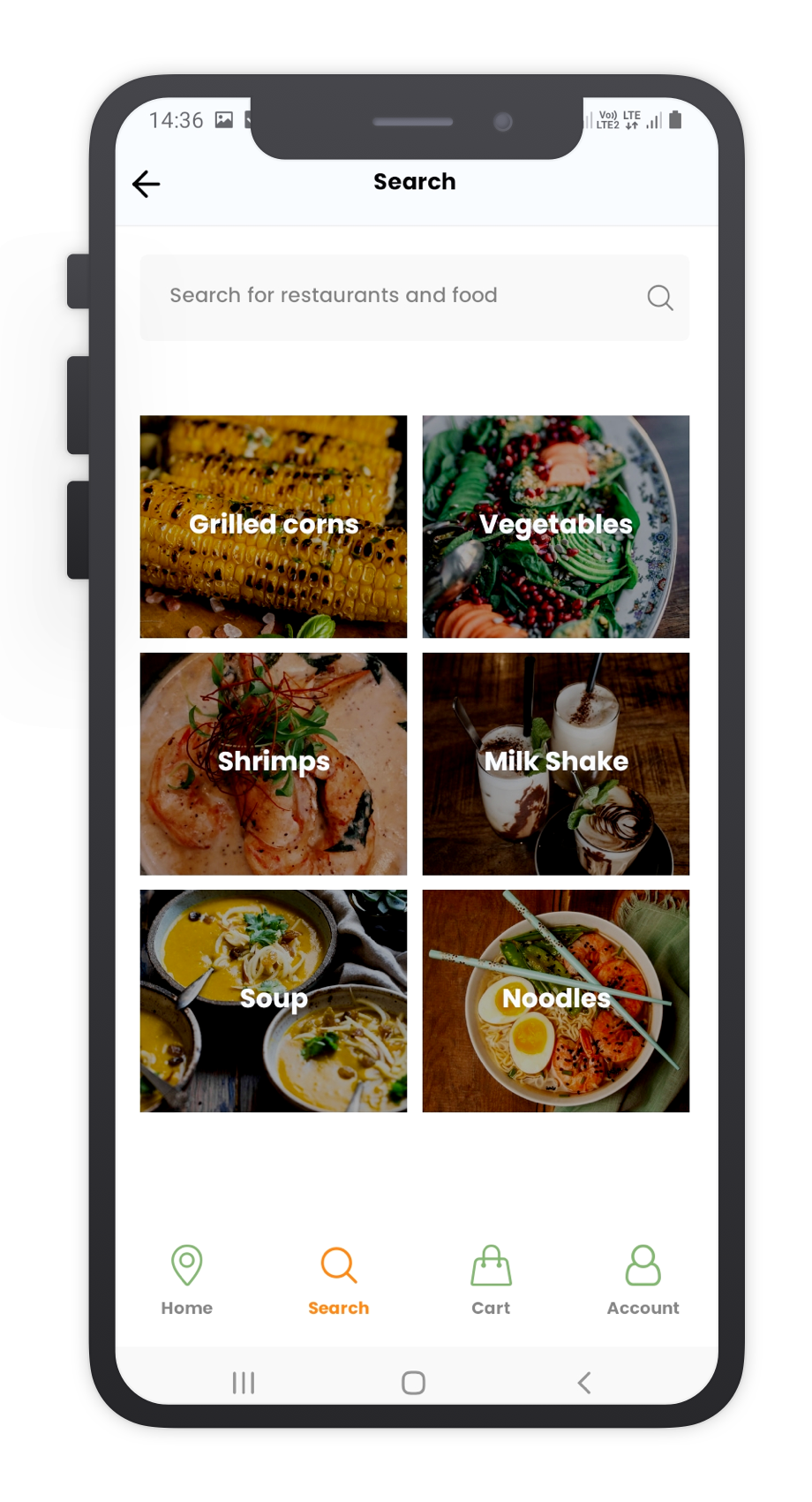 FoodsWe React Native App Template Features