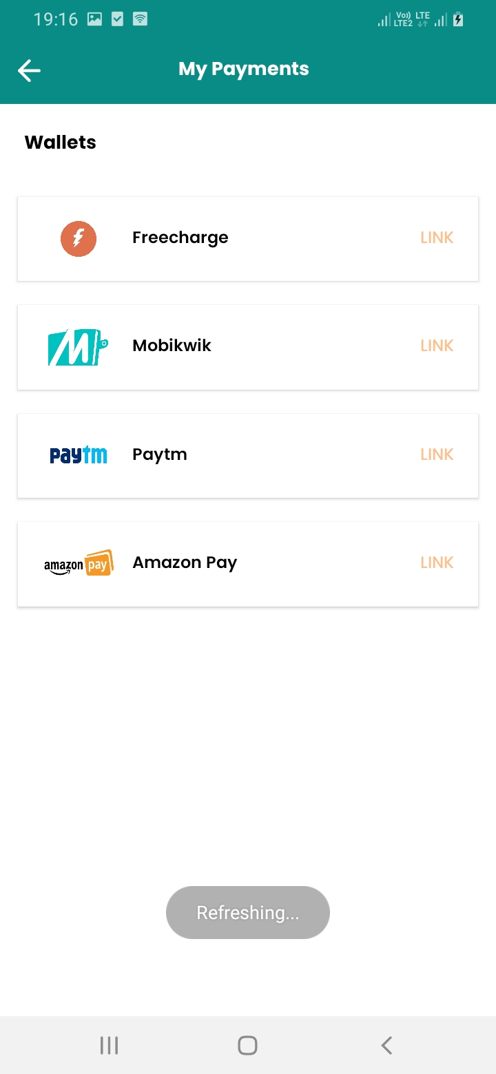 eGrocery Payment Screen