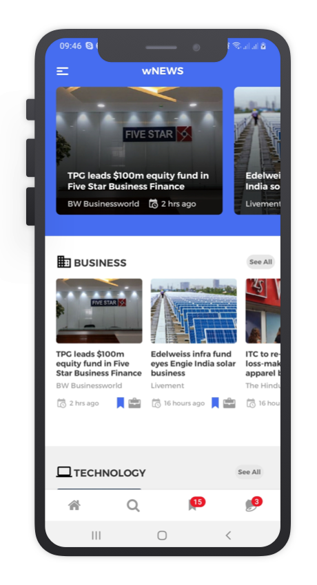 wNews React Native App Template Features