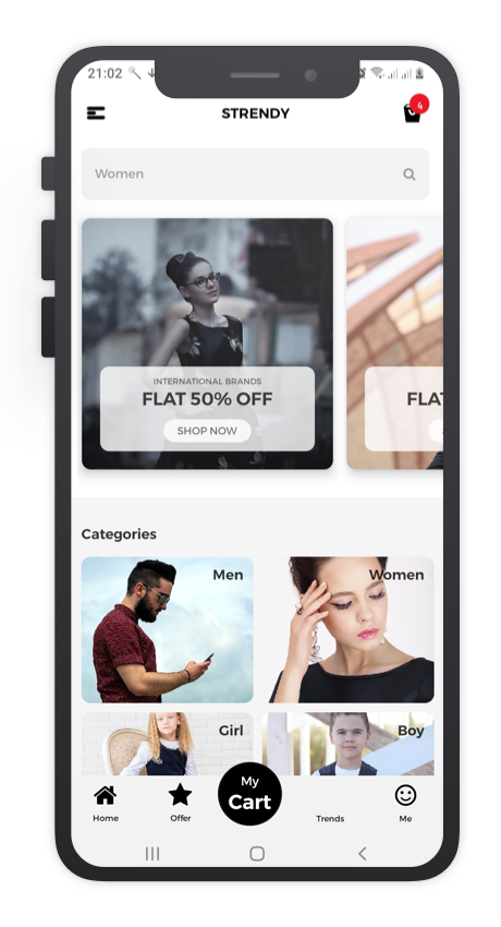 sTrendy React Native App Template Features