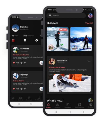 Ski Montana React Native, Templates, Material Kit, UI/UX and App