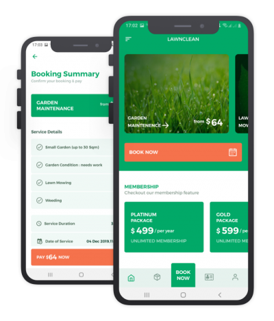 Lawn Clean React Native, Templates, Material Kit, UI/UX and App