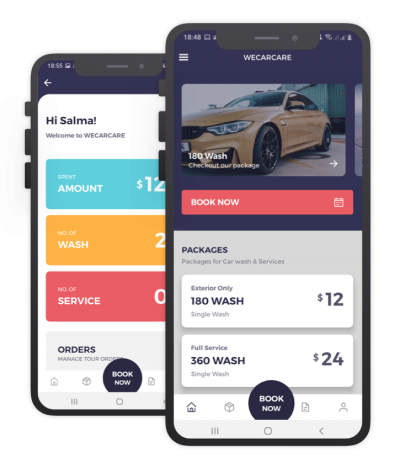 We Car Care React Native, Templates, Material Kit, UI/UX and App
