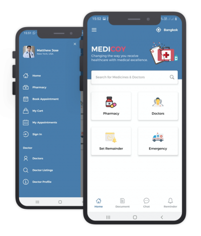 Medicoy React Native, Templates, Material Kit, UI/UX and App
