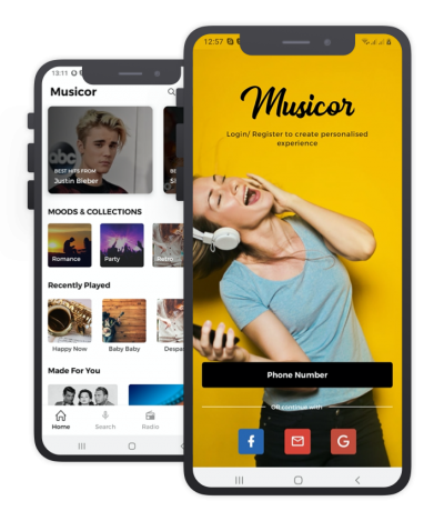Music Or React Native, Templates, Material Kit, UI/UX and App