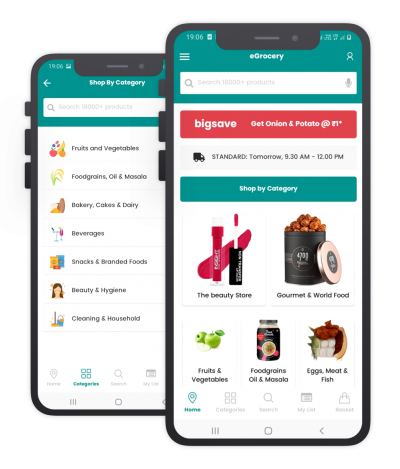 eGrocery React Native, Templates, Material Kit, UI/UX and App