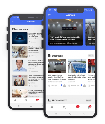 wNews React Native, Templates, Material Kit, UI/UX and App