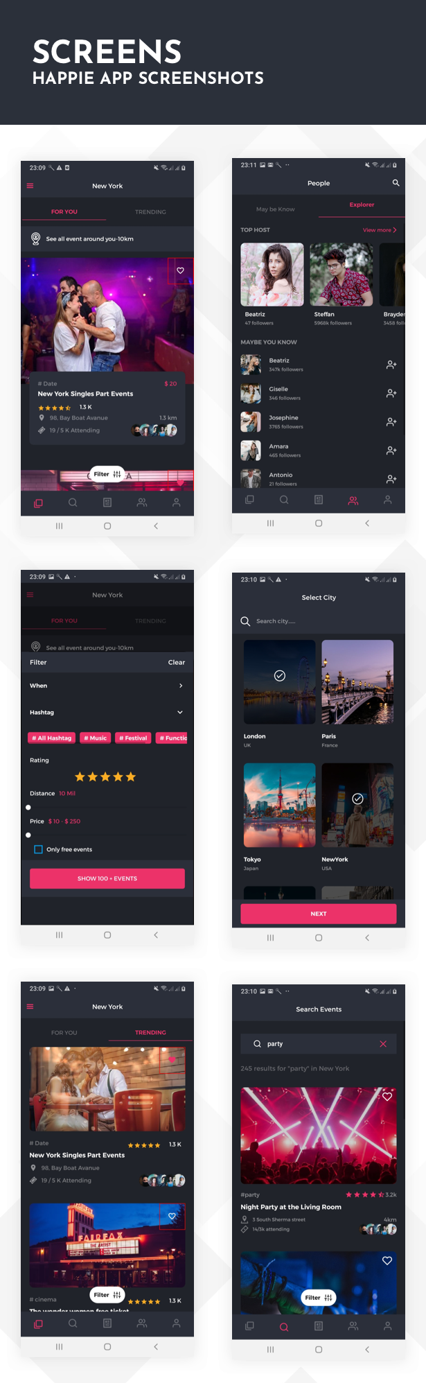 Happie App UI